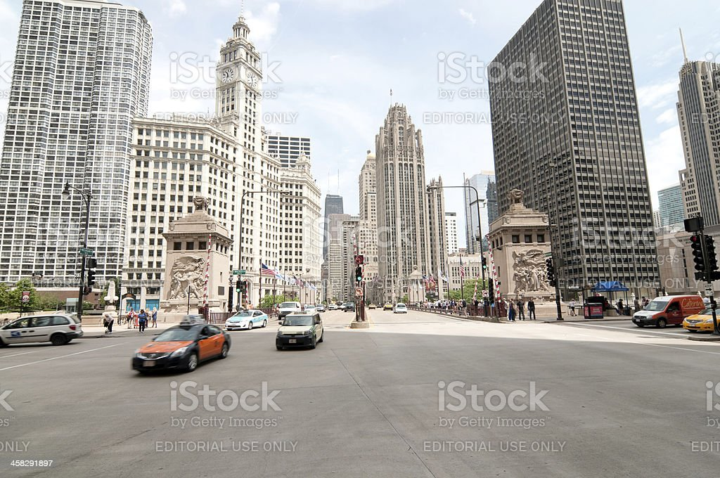 Michigan and Wacker royalty-free stock photo