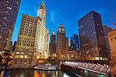Michigan Ave Bridge, Chicago, USA