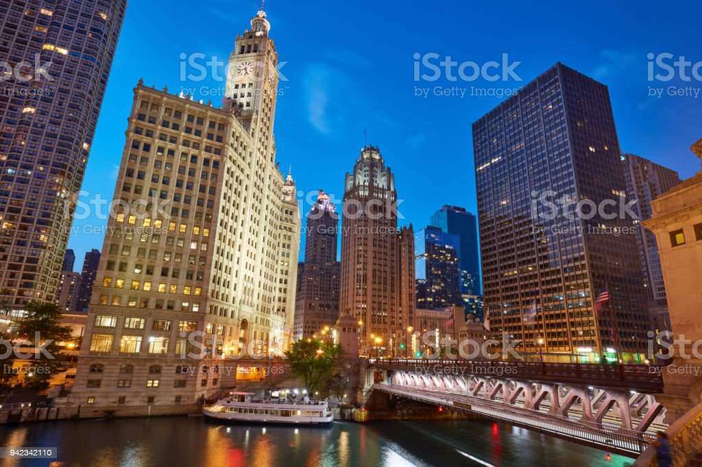 Michigan Ave Bridge stock photo