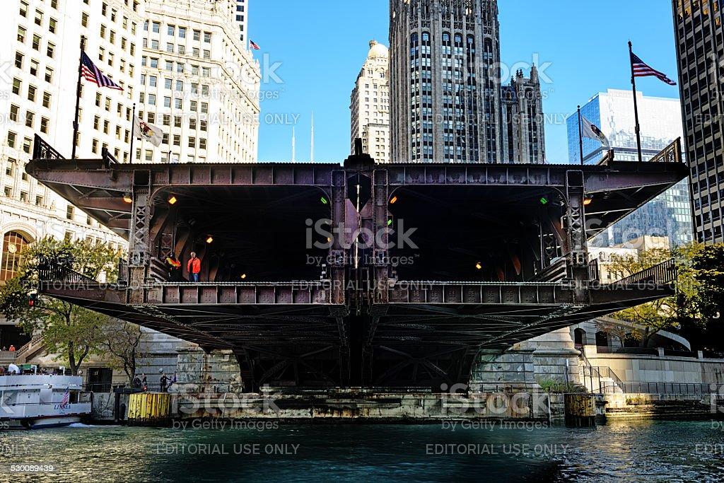 Michigan Avenue Bridge, Cross Section stock photo