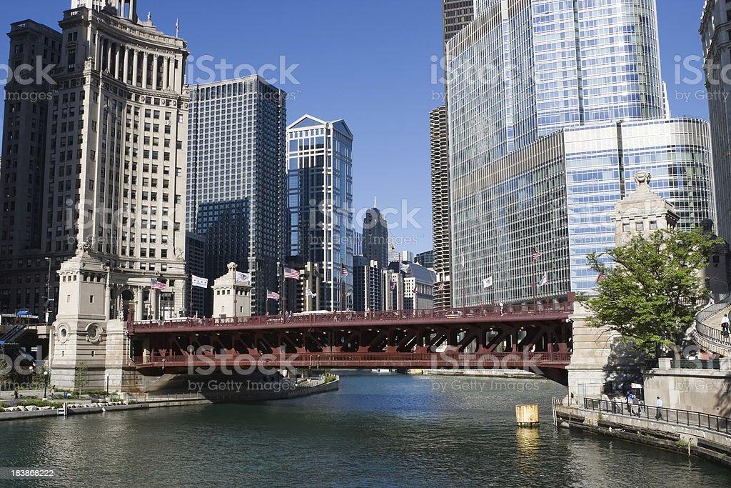 Michigan Avenue Bridge stock photo