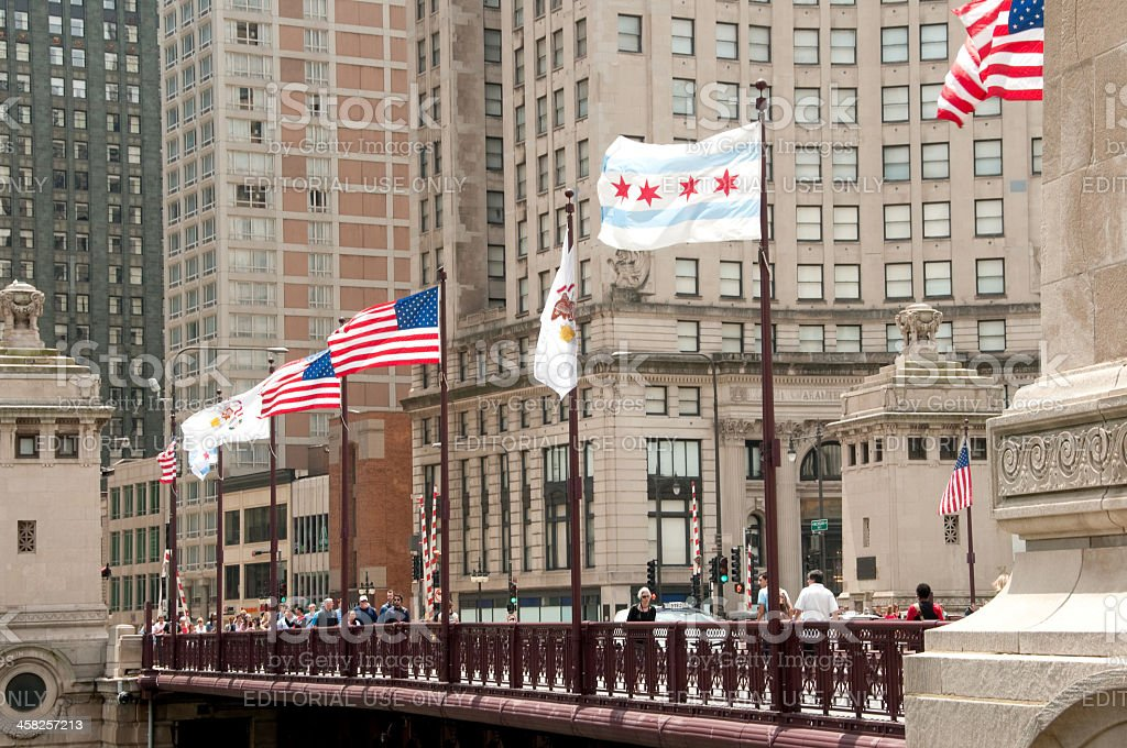 Michigan Avenue Bridge royalty-free stock photo