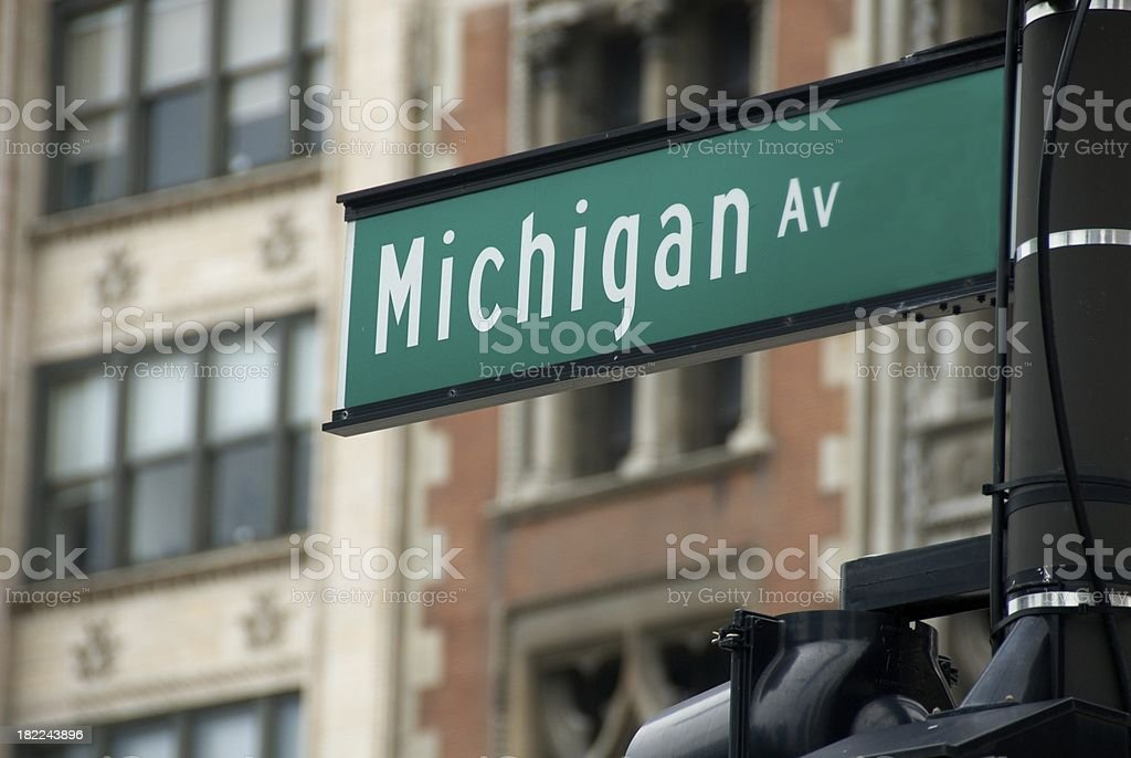 Michigan Avenue, Chicago, Street Sign stock photo