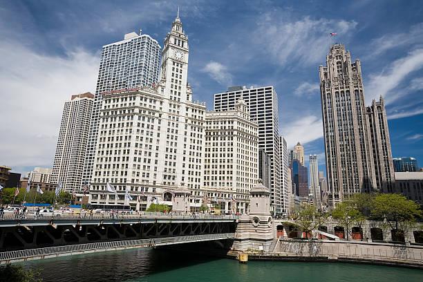 Michigan Avenue in Chicago stock photo