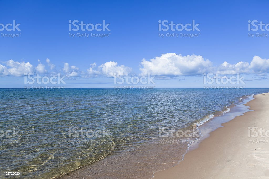 Michigan Lake beach royalty-free stock photo