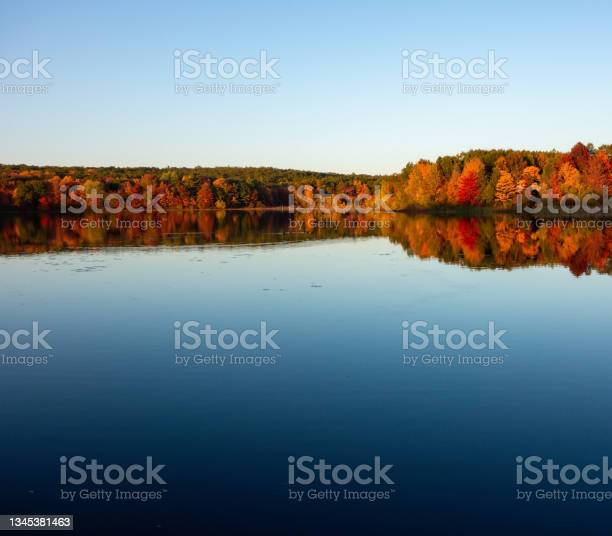 Photo of Michigan Lake in Autumn Colors