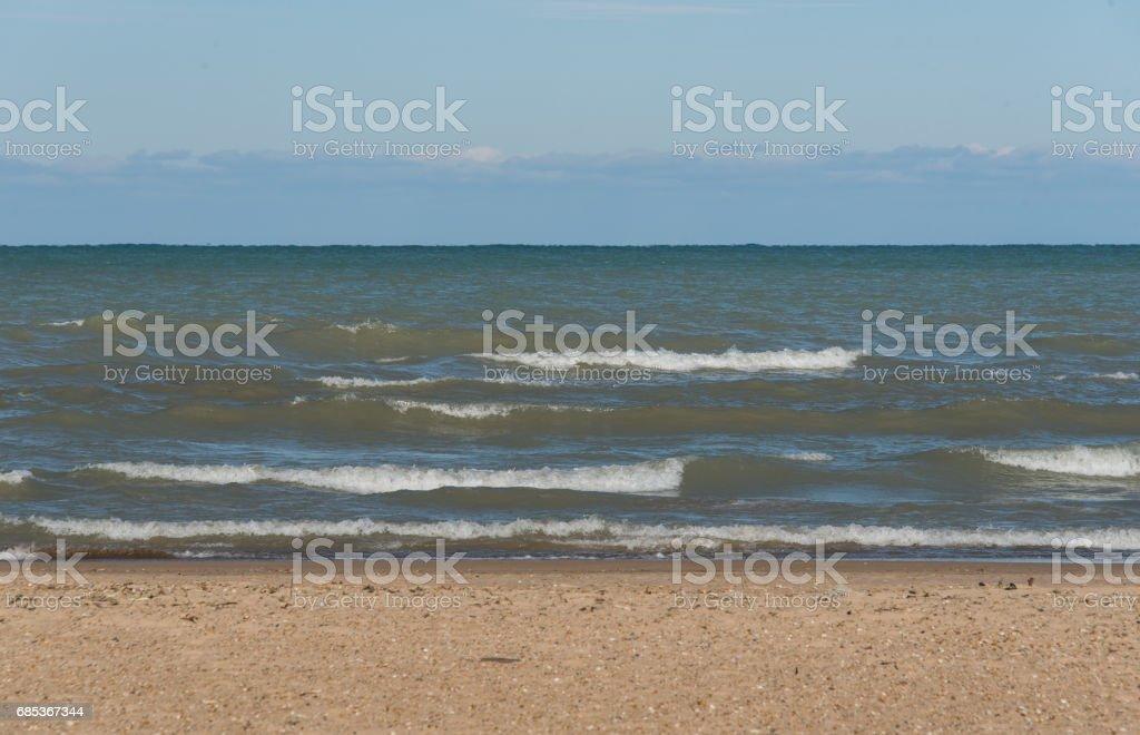 Michigan Lake stock photo