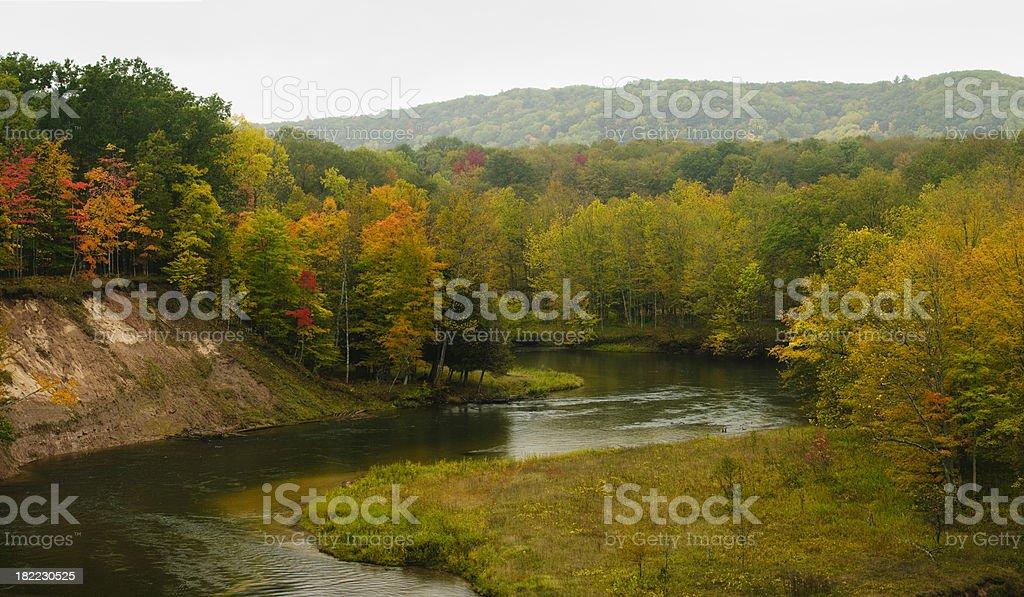 Michigan River stock photo