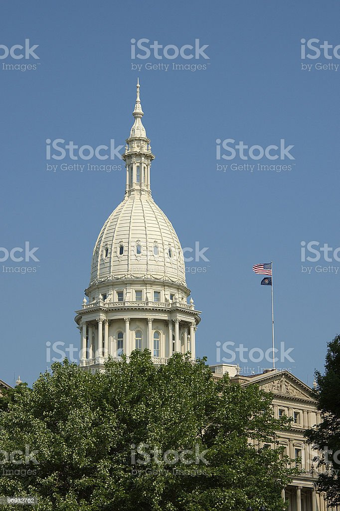 Michigan State Capitol Building Dome royalty-free stock photo