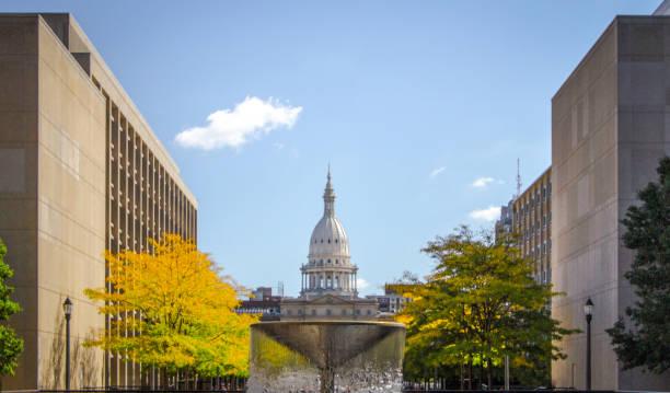 Michigan State Capitol Building stock photo