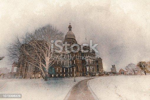 istock Michigan State Capitol - Lansing, Michigan 1073398326