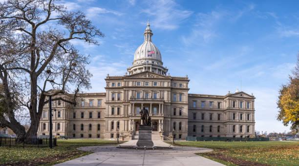 michigan state capitol-lansing, michigan - huvudstäder bildbanksfoton och bilder