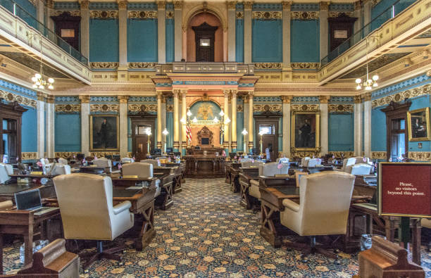 Michigan State Senate Government Chambers stock photo