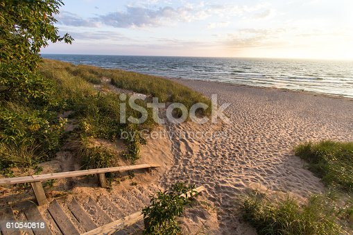 832047798 istock photo Michigan Summer Beach Vacation 610540818