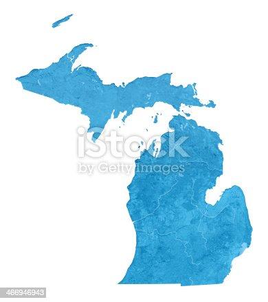 173169385istockphoto Michigan Topographic Map Isolated 466946943