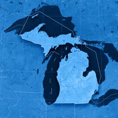 186815169 istock photo Michigan Topographic Map 173915826