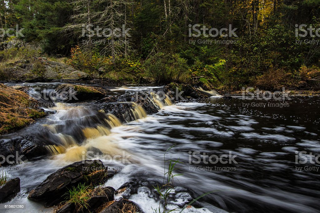 Michigan Upper Peninsula Waterfall Background stock photo