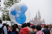 Shanghai, China - June 7, 2016: Detail of Mickey Mouse shaped ballon of Shanghai Disney Resort in Shanghai Disneyland Park, located in Chuansha New Town of Pudong New Area, is officially confirmed to open on June 16th, 2016. Is the sixth in the world and the second in China (after Hong Kong Disneyland).