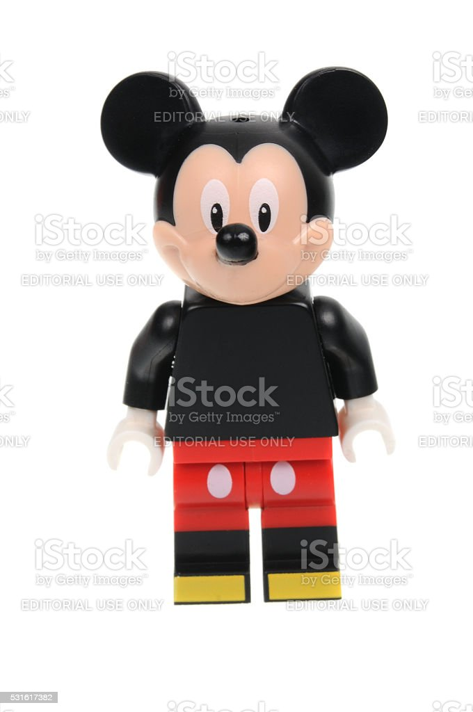 Mickey Mouse Lego Disney Series 1 Minifigure stock photo