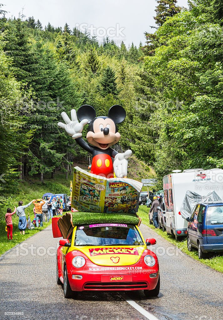 Mickey de voiture pendant Le Tour de France 2014 - Photo