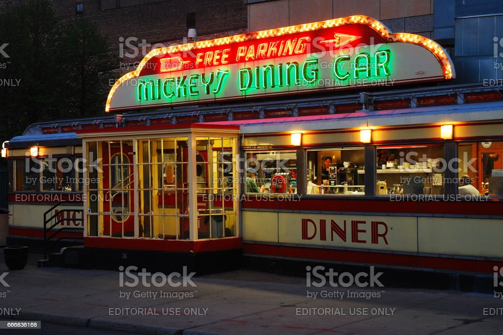 Mickeys Dining Car stock photo