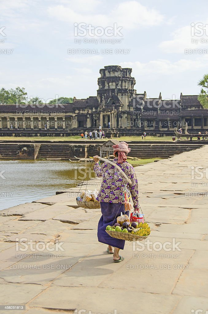 Micro business in Cambodia royalty-free stock photo