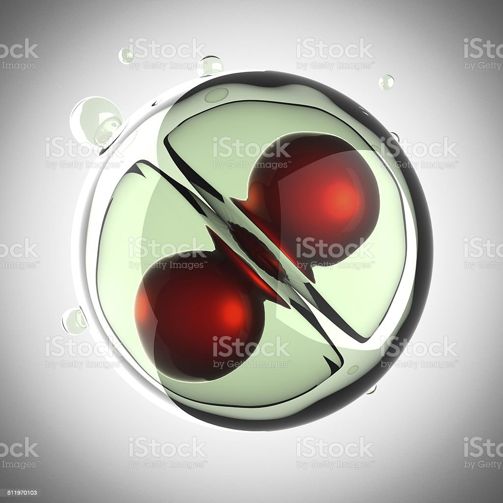micro cell division process stock photo