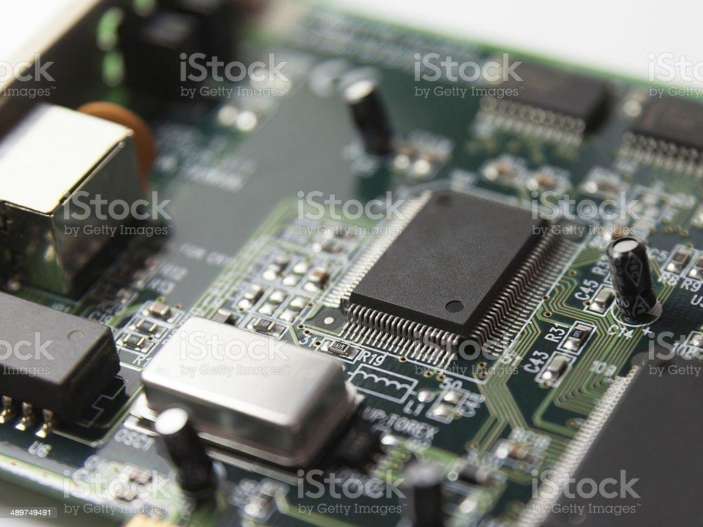 Micro controller stock photo