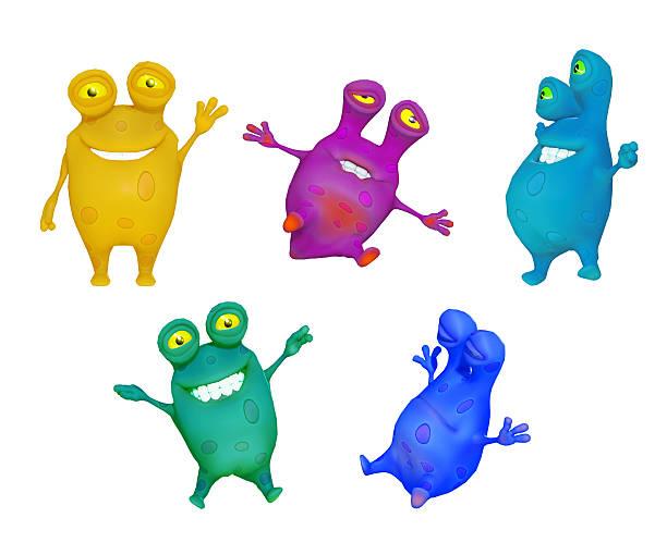 microbes cartoon 3d stock photo