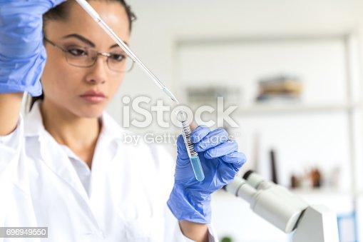 istock Microbiologist in laboratory 696949550