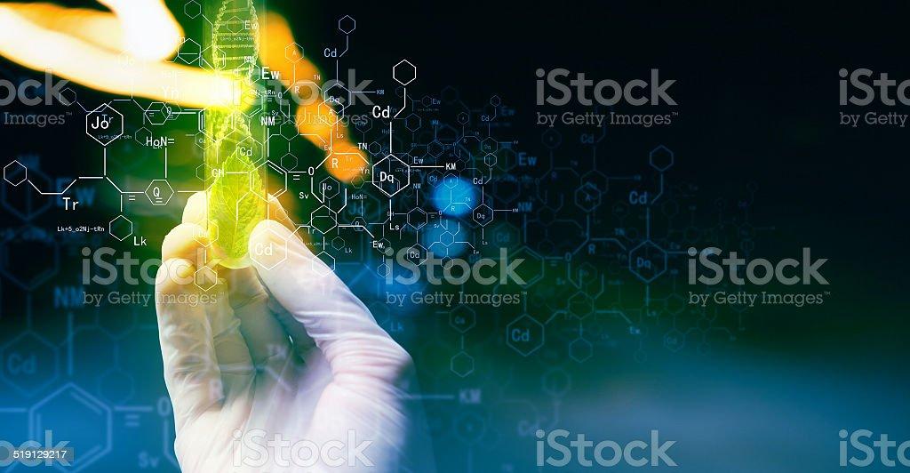 Concepto de Microbiología - foto de stock