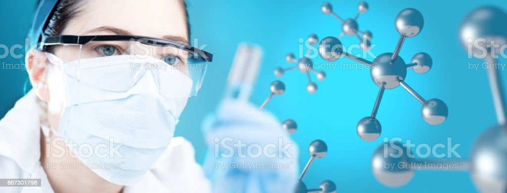 microbiology research concept stock photo