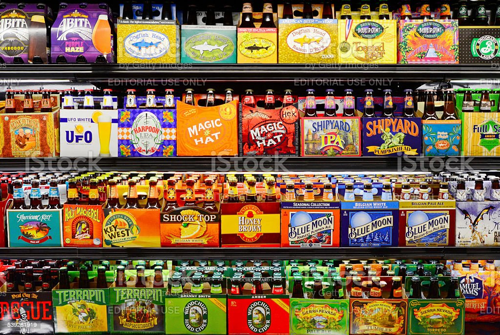 Microbrewery Products stock photo