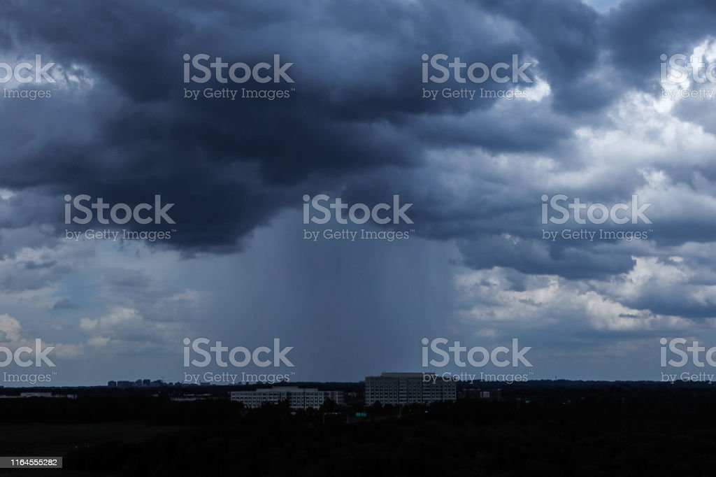 View of a Microburst Cell downpour.