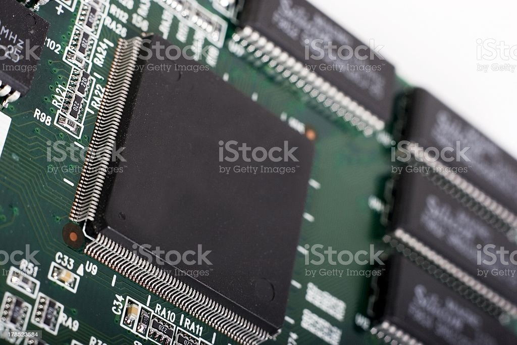 microchip close up stock photo