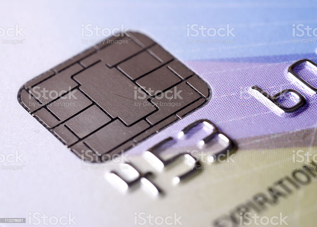 Microchip credit card stock photo