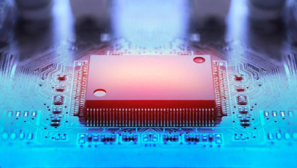 Microchip Overheating stock photo