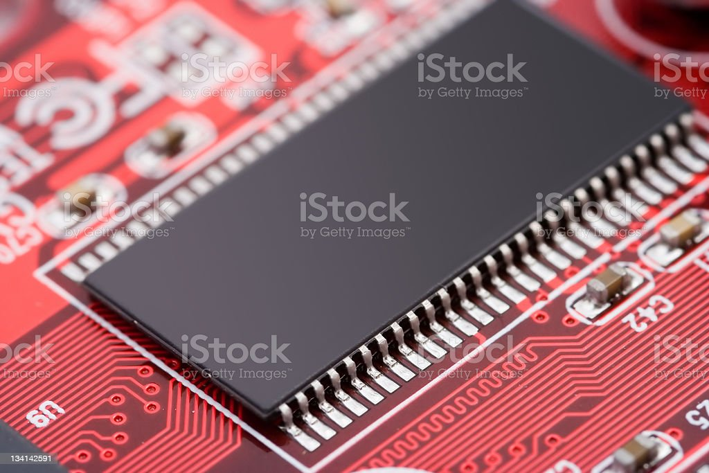 Microchip royalty-free stock photo