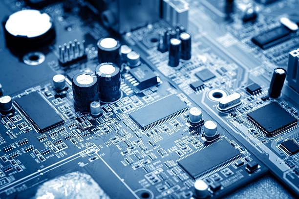 microchip - scheda a circuito foto e immagini stock