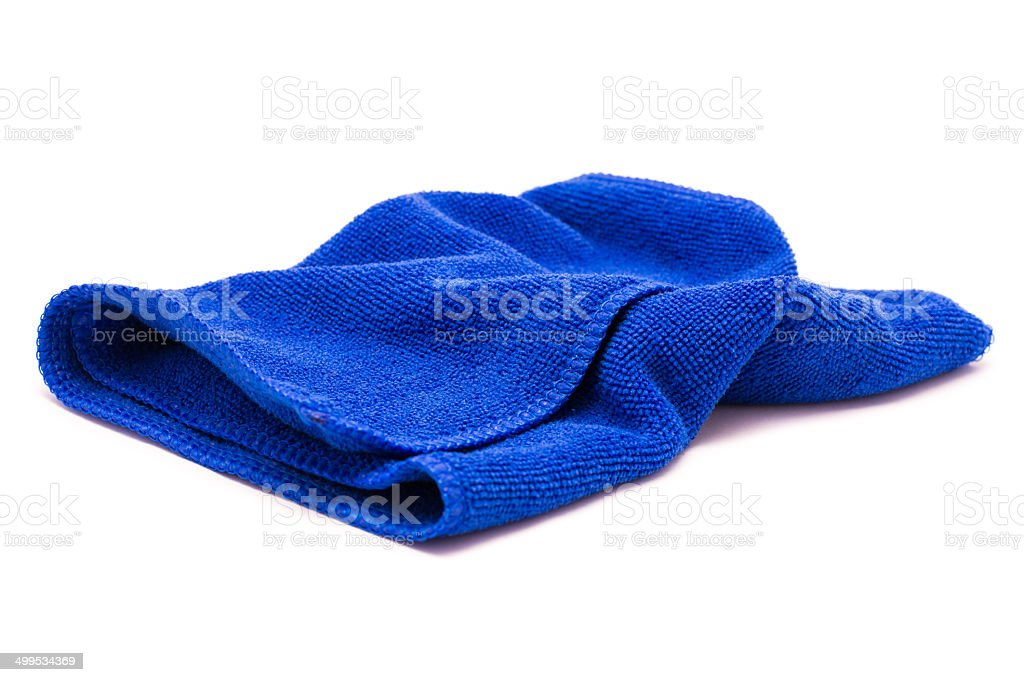 microfiber cloth  using cleaning car isolated on white stock photo