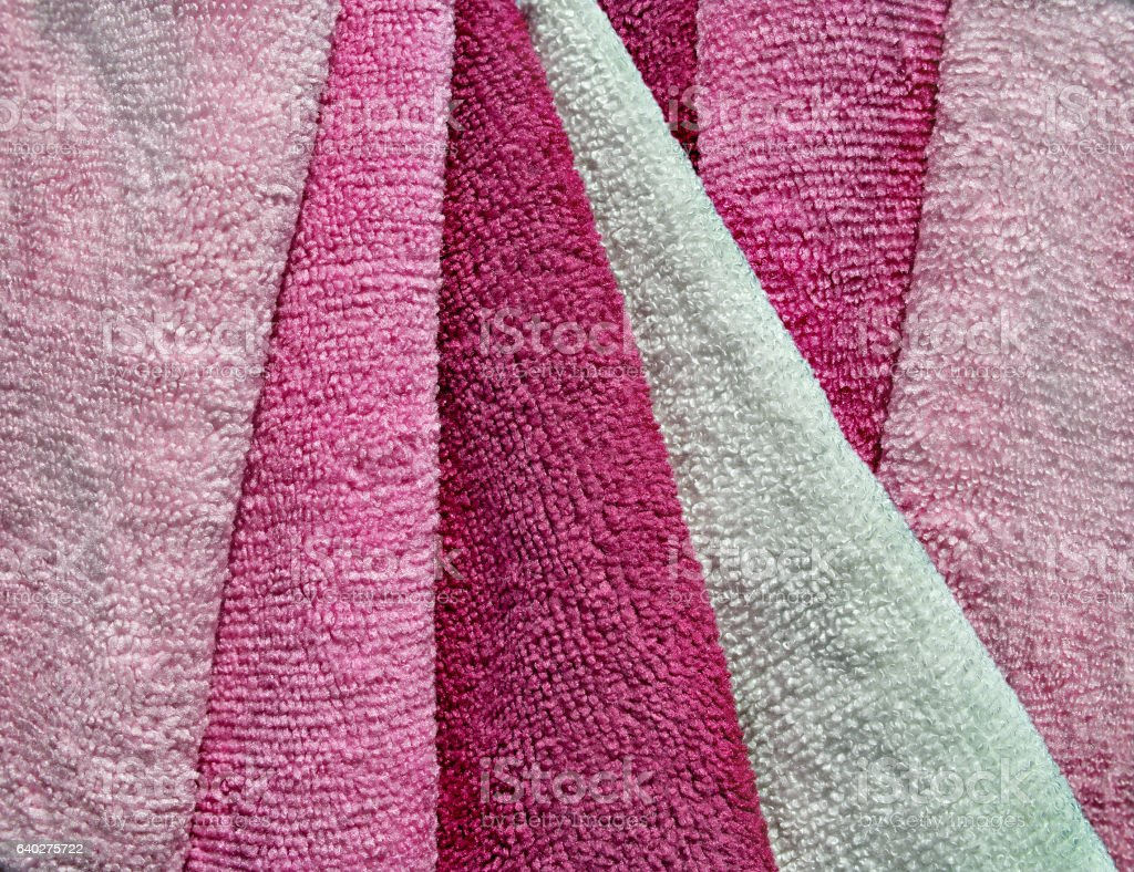 Microfiber towels set. stock photo