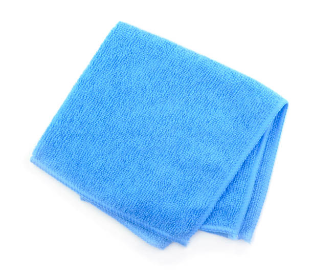 microfibre cloth isolated - rag stock pictures, royalty-free photos & images