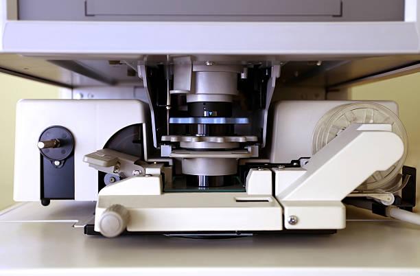 Microfiche reader in Nahaufnahme – Foto