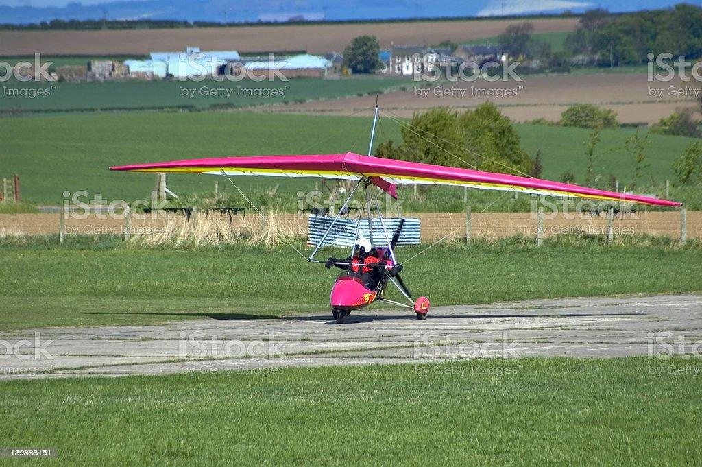 Microlight Aircraft on Runway royalty-free stock photo
