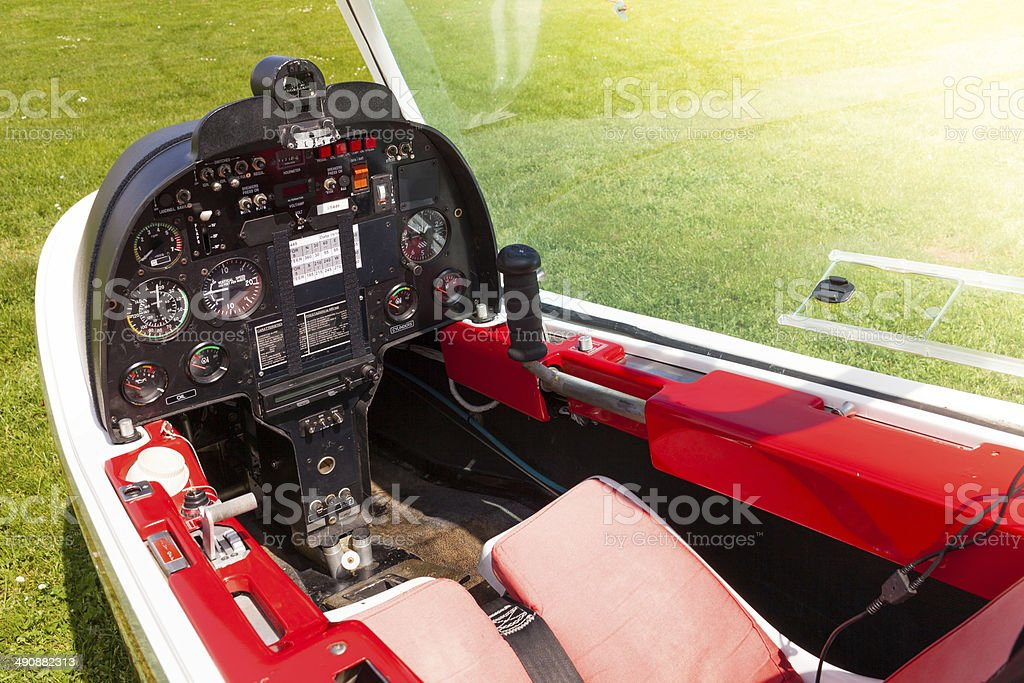 Microlight Plane Cockpit royalty-free stock photo