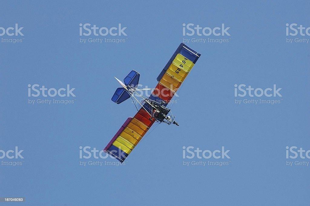 microlight ultralight airplane royalty-free stock photo