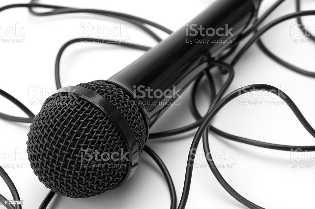 Microphone and Cord stock photo