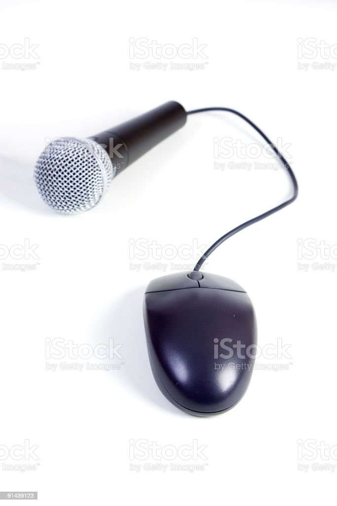 Microphone and Mouse royalty-free stock photo