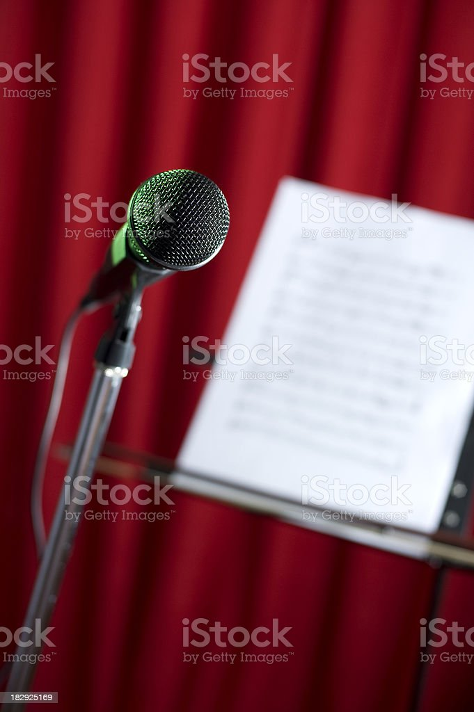 Microphone and Note royalty-free stock photo