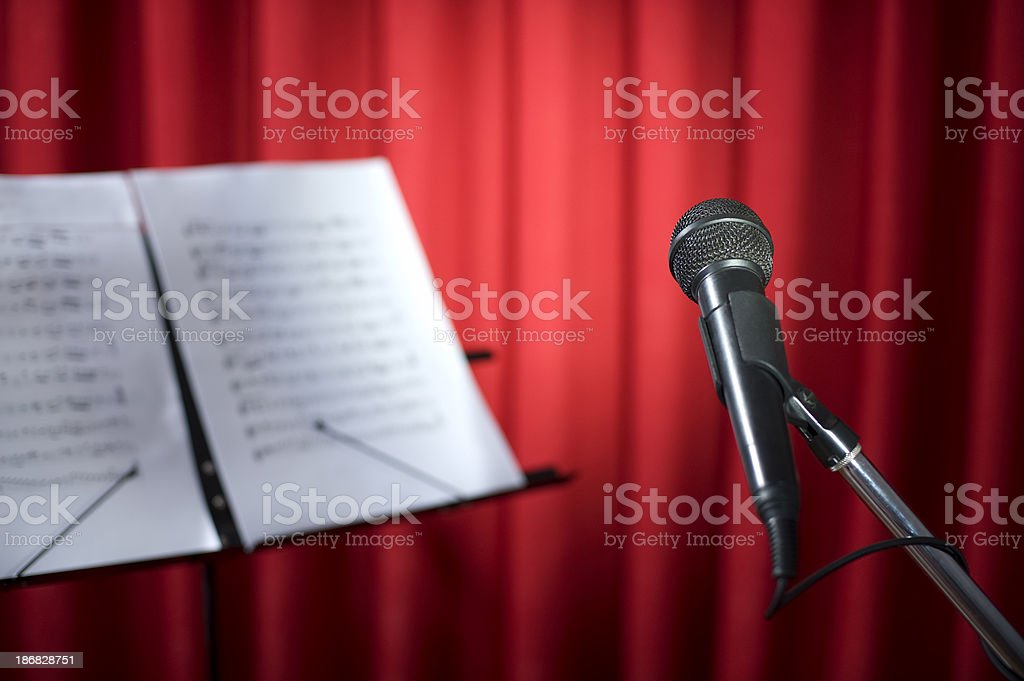 Mikrofon und beachten Lizenzfreies stock-foto